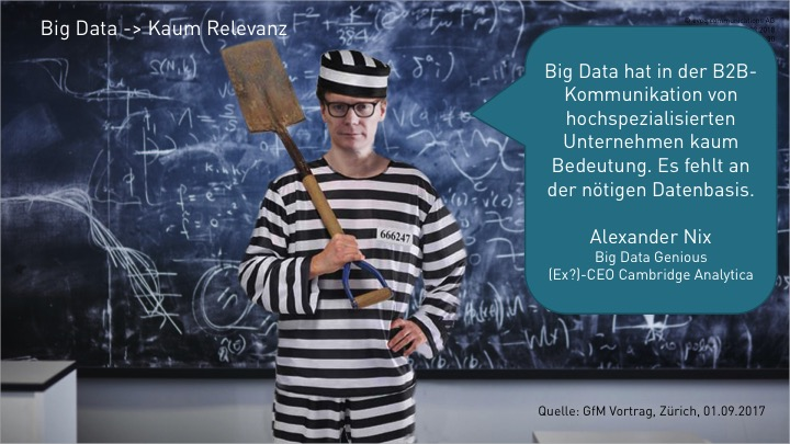 Big Data in der KMU Kommunikation ist irrelevant